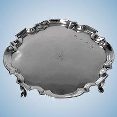 Georgian Silver Salver London 1732 Richard Burcombe