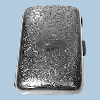 Antique Sterling Silver Cigarette Case, Birmingham 1898