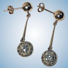 Pair of Antique Diamond Earrings, C.1920