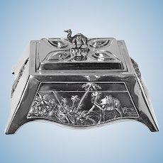 Edward VII 1901 Coronation silver box, Mappin and Webb London 1901