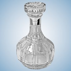 Silver and Crystal Glass Decanter Birmingham 1942 Barker Bros