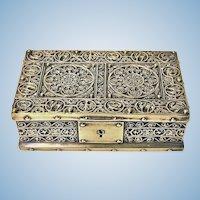 Brass Jewellery Box, Germany C.1920 probably Erhard & Söhne