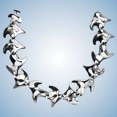 Georg Jensen Sterling Silver Necklace, Koppel designed Amoeba #89.