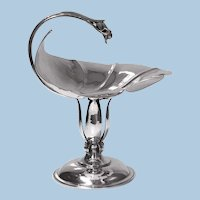 Carl Paul Petersen Sterling Silver Large Compote, Montreal, C.1940