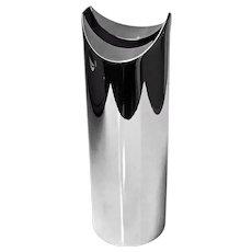 Lino Sabattini Italy C.1970 Silvered Metal Vase