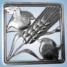 Georg Jensen Sterling Silver Birds Brooch, 1933-44