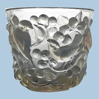 Signed Rene Lalique Avallon Vase, C.1930