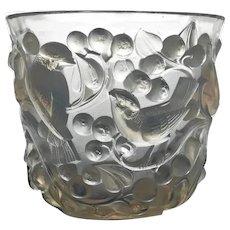 Signed Rene Lalique Avallon Vase, C.1930