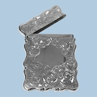Antique Silver Card Case, Birmingham 1906, Joseph Gloster
