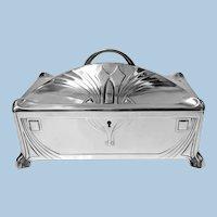 WMF Jugendstil Secessionist Silver plate Box, Germany C.1906