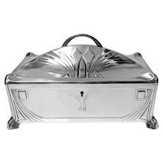 WMF Jugendstil Secessionist Silver plate Box, Germany C.1906