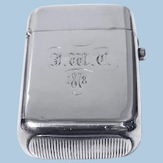 Antique Silver Vesta Match Case London 1876 William Summers