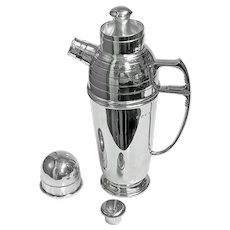 Art Deco Sterling Silver Cocktail Shaker, Birmingham 1913 Pearce & Sons
