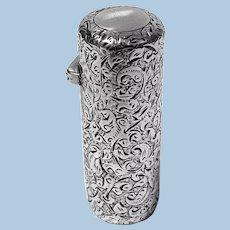 Sampson Mordan Silver Scent Perfume Bottle, London 1888