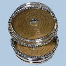 Georgian Sterling Silver Wine Coasters 1810 Thomas Blagden