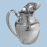 1950's Camusso Sterling Silver Water Pitcher, Lima, Peru.