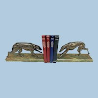 Pair Art Deco Bronze Bookends France C.1930.