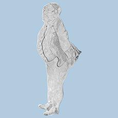 Silver Samuel Pickwick figural Bookmark, London 1975.