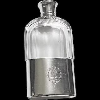 Asprey English Silver hip flask London 1867