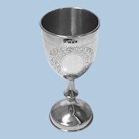 Antique Silver Kiddush Cup London 1925, Sigmund Zyto.