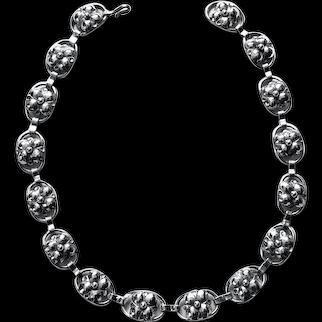 Georg Jensen Sterling Silver Necklace, American C.1940.