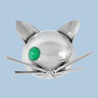 Georg Jensen Sterling Cat Brooch JoPol C.1940