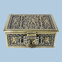 Erhard & Söhne Cherub Brass Box Germany C.1920.