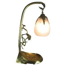 French Art Nouveau desk table lamp Charles Schneider France C.1920