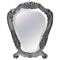 Friedrich Adler Art Nouveau Jugendstil Pewter Mirror C.1900