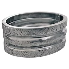 Antique Sterling Silver Bangle, Birmingham 1882, Henry Walker