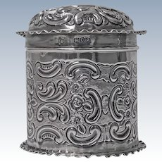 Antique Silver Caddy Box, London 1898, Mappin & Webb