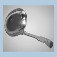 Antique Georgian Silver Tea Caddy Spoon, London 1813, Josiah Snatt.
