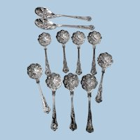 English Silver Plate Berry Fruit Set, C.1900.