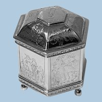 """925 Sterling Silver Vintage 1985 17th cent style Dutch """"Marriage Box"""""""