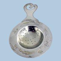 Art Nouveau Aesthetic Sterling Tea Strainer C.1890