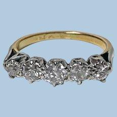 Antique 15 Karat Platinum Diamond Ring, circa 1920