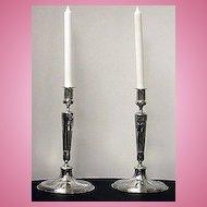 Orivit silver plate Candlesticks, Germany C.1900
