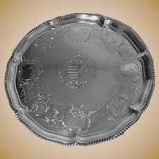 Large Robert Garrard Antique Silver Salver, London 1830 .