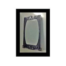 Rare WMF Art Nouveau Jugendstil Secessionist pewter Mirror, Germany C.1905