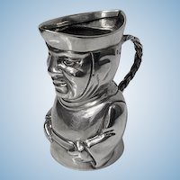 Silver Toby Cream Jug English Antique Sterling , London 1882, Thos Smiley.