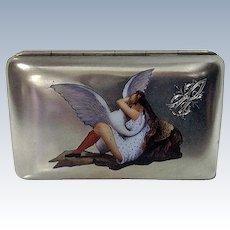 Silver Enamel Erotic Cigarette Case, probably Austria, C.1900
