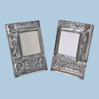 Pair of Art Nouveau large Silver Plate Photograph Frames, Germany C.1900.
