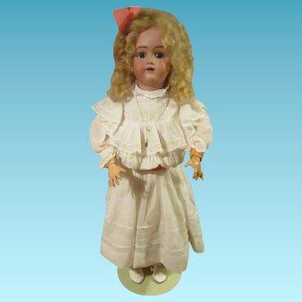 German Bisque head doll  by Heinrich Handwerck 28 inch