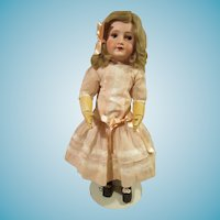Pretty bisque head French doll marked Unis France