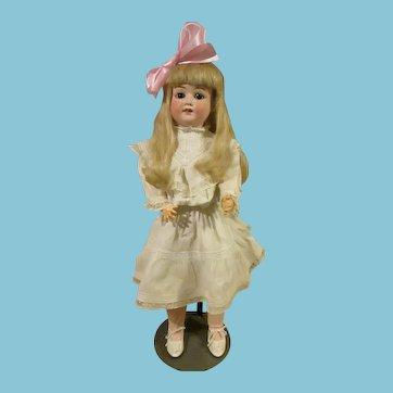 German Bisque head doll by Schoenau & Hoffmeister 23 inch