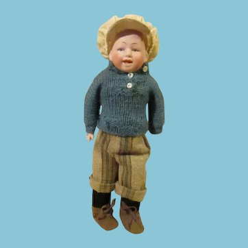 Cute small. German  Bisque head toddler , by Ernst Heubach