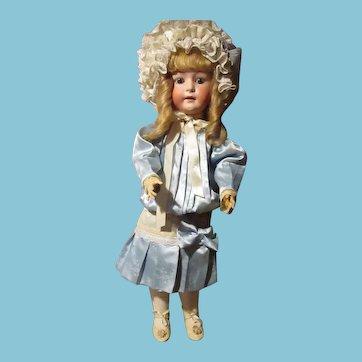 Beautiful German Bisque had Huebach doll  28 inch