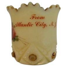 Custard Glass Toothpick Atlantic City Souvenir