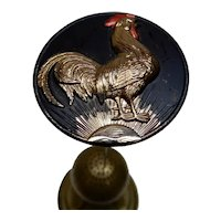 Glass Hatpin Sun's Up Rooster Large size
