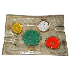 Higgins Art Glass Tray Pocket Watches